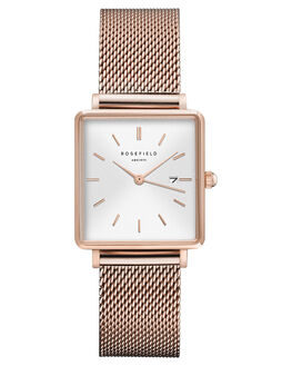 WHITE ROSE GOLD WOMENS ACCESSORIES ROSEFIELD WATCHES - QWSR-Q01WSMR