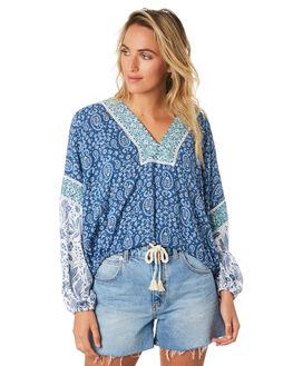 BLUE WOMENS CLOTHING TIGERLILY FASHION TOPS - T391043BLU