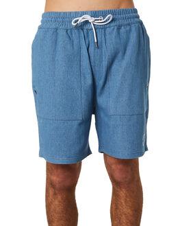 CHAMBRAY WAFFLE MENS CLOTHING RPM SHORTS - 8PMB04ACHAM