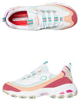WHITE MULTI WOMENS FOOTWEAR SKECHERS SNEAKERS - 13146WMLT