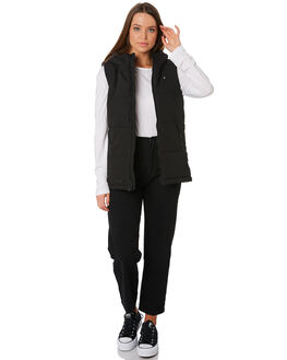 BLACK WOMENS CLOTHING HUFFER JACKETS - WPVE92S801BLK
