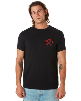 BLACK MENS CLOTHING DEUS EX MACHINA TEES - DMF91896DBLK