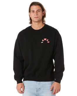BLACK MENS CLOTHING LOWER JUMPERS - LO19Q3MSW02BLK