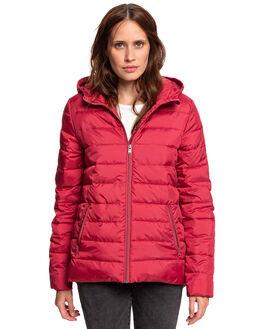 DEEP CLARET WOMENS CLOTHING ROXY JACKETS - ERJJK03250-RQH0