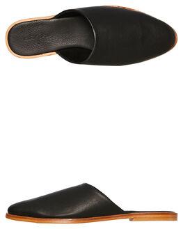 BLACK LEATHER WOMENS FOOTWEAR URGE FLATS - URG16211BLK