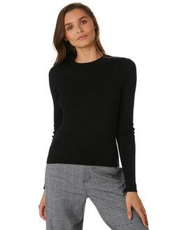BLACK WOMENS CLOTHING LULU AND ROSE KNITS + CARDIGANS - LU23730BLK