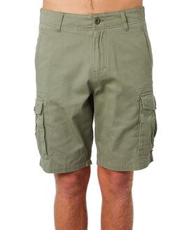 WASHED OLIVE MENS CLOTHING DEPACTUS SHORTS - D5183236WSHOL