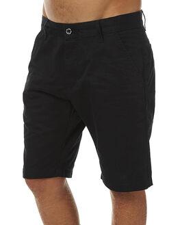 BLACK SATIN MENS CLOTHING DR DENIM SHORTS - 1640106204