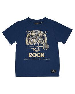 BLUE KIDS BOYS ROCK YOUR KID TOPS - TBT1927-MDBLU