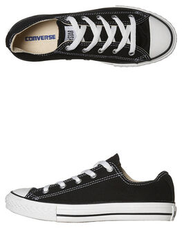 BLACK KIDS BOYS CONVERSE SNEAKERS - 3J235BLK