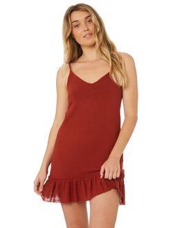 BURNT RED OUTLET WOMENS SOMEDAYS LOVIN DRESSES - IL18F1471BRED