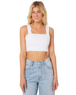 WHITE OUTLET WOMENS LULU AND ROSE FASHION TOPS - LU23371WHI