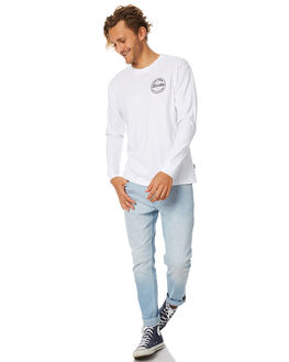 WHITE MENS CLOTHING AFENDS TEES - 02-02-083WHT