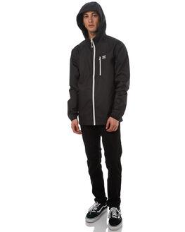 BLACK MENS CLOTHING DC SHOES JACKETS - EDYJK03140KVJ0