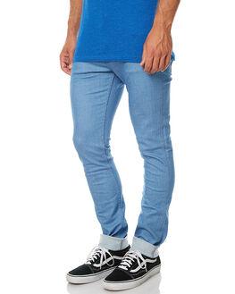 FLAT BLUE MENS CLOTHING WRANGLER JEANS - W099431C83FLBL