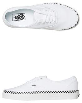 WHITE CHECK WOMENS FOOTWEAR VANS SNEAKERS - SSVNA38EMVJUWCHKW