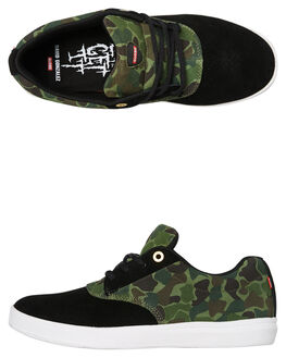 BLACK CAMO MENS FOOTWEAR GLOBE SKATE SHOES - GBEAGLE20390