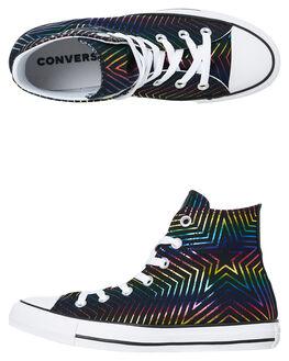 BLACK WHITE WOMENS FOOTWEAR CONVERSE SNEAKERS - 565395CBLKW
