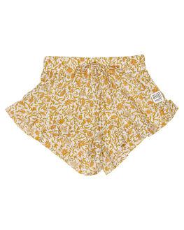 WILDFLOWER GOLD KIDS GIRLS SWEET CHILD OF MINE SHORTS + SKIRTS - SP19BLLASHRTWLFGD