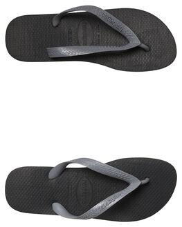 BLACK MENS FOOTWEAR HAVAIANAS THONGS - 41155486328