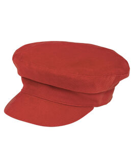 RED OUTLET WOMENS LACK OF COLOR HEADWEAR - DNSCAPRED1RED
