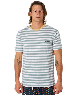 TEAL STRIPE MENS CLOTHING BARNEY COOLS TEES - 110-CC3TEAL