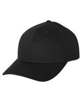 BLACK MENS ACCESSORIES FLEX FIT HEADWEAR - 172152-BLK