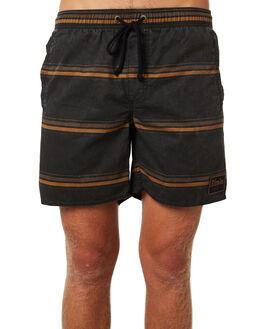 BLACK MENS CLOTHING AFENDS BOARDSHORTS - M184357BLK
