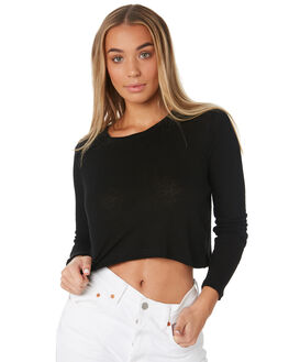 BLACK WOMENS CLOTHING THE BARE ROAD TEES - 991241-02BLK