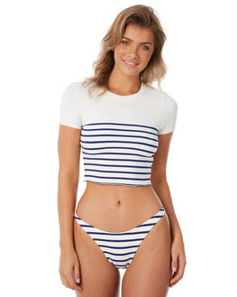 NAVY BRETON OUTLET WOMENS SOLID AND STRIPED  - WS-1953-1427NVBRT