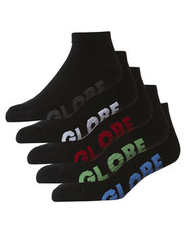 BLACK MENS CLOTHING GLOBE SOCKS + UNDERWEAR - GB71139045BLK