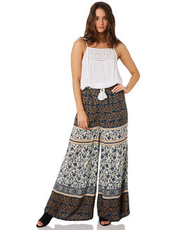 BLUE PATCHWORK WOMENS CLOTHING O'NEILL PANTS - 5421701BPW