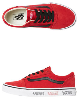RED KIDS BOYS VANS SNEAKERS - VNA38J9VWN