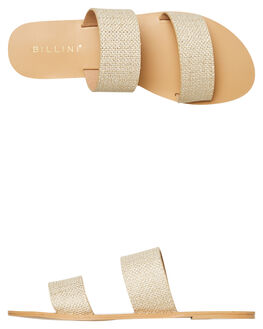 LIGHT GOLD WOVEN WOMENS FOOTWEAR BILLINI FASHION SANDALS - S404LGLD