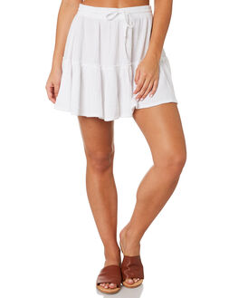 WHITE WOMENS CLOTHING RHYTHM SKIRTS - JUL19W-SK03WHT