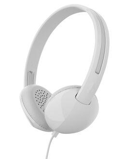 WHITE GRAY MENS ACCESSORIES SKULLCANDY AUDIO - S2LHY-K568WHI