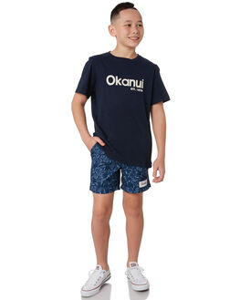 NAVY KIDS BOYS OKANUI BOARDSHORTS - KSP19SW01NVY