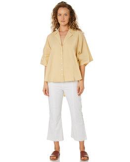SOFT YELLOW WOMENS CLOTHING ZULU AND ZEPHYR FASHION TOPS - ZZ2585SOFYL
