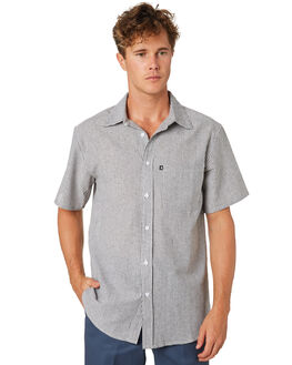 BLACK OUTLET MENS PASS PORT SHIRTS - PPHICKORYBLK
