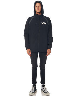BLACK MENS CLOTHING RVCA JACKETS - R371437BLK
