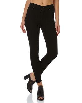 BLACK WOMENS CLOTHING CHEAP MONDAY JEANS - 0264954BLK