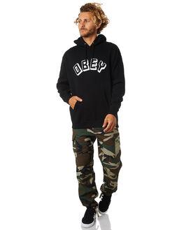 BLACK MENS CLOTHING OBEY JUMPERS - 111731644BLK