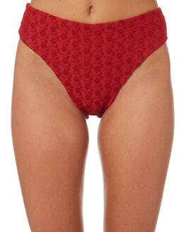 BLOOD RED OUTLET WOMENS THRILLS BIKINI BOTTOMS - WTS8-818HRED