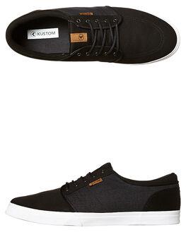 BLACK MICRO MENS FOOTWEAR KUSTOM SNEAKERS - 4937100CBLKM
