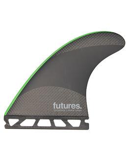 BLACK GREEN BOARDSPORTS SURF FUTURE FINS FINS - JJM-010703BLKG
