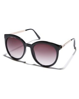 SHINY BLACK WOMENS ACCESSORIES MINKPINK SUNGLASSES - MNP1708054SHBLK