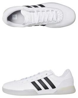 WHITE MENS FOOTWEAR ADIDAS SKATE SHOES - DB3075WBLK