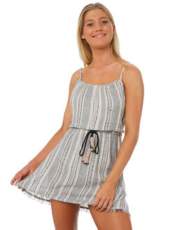 CHARCOAL STRIPE WOMENS CLOTHING TIGERLILY DRESSES - T381445STR