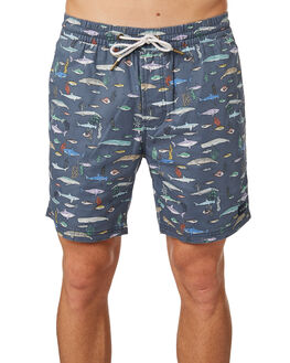 SEA LIFE BLUE MENS CLOTHING BARNEY COOLS BOARDSHORTS - 806-CR2SEALI