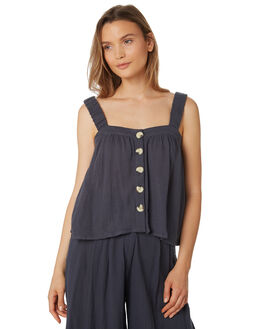 CHARCOAL WOMENS CLOTHING THE BARE ROAD FASHION TOPS - 990241-01CHA